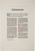 Autographs:U.S. Presidents, Harry S Truman: Signed 1945 Proclamation Declaring a Day of Prayerto Honor the Fallen in the Just-Concluded Second World War....