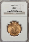 Indian Eagles, 1909-S $10 MS61+ NGC....