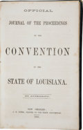 Books:Americana & American History, [Civil War] Two Items from the Louisiana Secession Conventionincluding:... (Total: 2 Items)