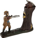 Political:3D & Other Display (pre-1896), Theodore Roosevelt: Teddy and the Bear Mechanical Bank....