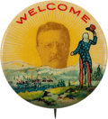 Political:Pinback Buttons (1896-present), Theodore Roosevelt: Uncle Sam Welcome Button....
