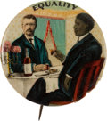 "Political:Pinback Buttons (1896-present), Theodore Roosevelt: Classic ""Equality"" Pin...."