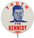 Political:Pinback Buttons (1896-present), John F. Kennedy: Scarce Young Voter Pin....