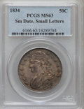Bust Half Dollars, 1834 50C Small Date, Small Letters MS63 PCGS. O-116, R.1....