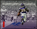 Football Collectibles:Photos, Adrian Peterson Signed Oversized Photograph....