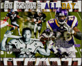 Football Collectibles:Photos, Bo Jackson and Adrian Peterson Multi Signed Oversized Photograph....
