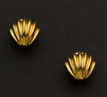 Estate Jewelry:Earrings, Tiffany & Co. 18k Gold Earrings. ...