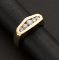 Estate Jewelry:Rings, Superb Gent's Diamond & Gold Ring. ...
