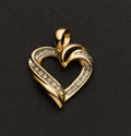 Estate Jewelry:Pendants and Lockets, Charming Gold & Diamond Heart. ...
