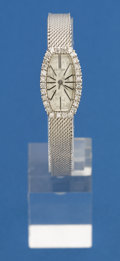Timepieces:Wristwatch, Geneva 14k White Gold & Diamond Wristwatch. ...