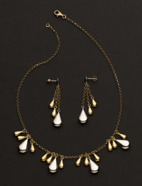 Collection Of Gold Pendant & Earrings
