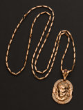 Estate Jewelry:Pendants and Lockets, Outstanding Christ Head Gold Pendant & Chain. ...