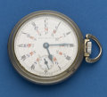 """Timepieces:Pocket (post 1900), Elgin 18 Size With Very Rare """"The Wells Dial"""" Four Time Zones. ..."""