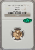 Commemorative Gold, 1915-S/S G$1 Panama-Pacific Gold Dollar MS66 NGC. CAC....