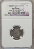 Bust Dimes, 1828 10C Small Date -- Improperly Cleaned -- NGC Details. AU. JR-1.NGC Census: (0/26). PCGS Population (5/42). Mintage: 12...