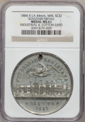 Expositions and Fairs, 1884-5 Louisiana Industrial and Cotton Exposition Souvenir Medal MS61 NGC. White metal, 44 mm....