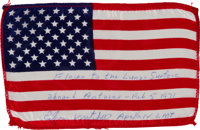 Apollo 14 Lunar Module Flown American Flag Directly from the Personal Collection of Mission Lunar Module Pilot Edgar Mit...