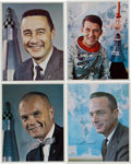 Autographs:Celebrities, Mercury Seven: Individual Signed Color Photos of Grissom, Schirra, Glenn, and Carpenter.... (Total: 4 Items)