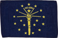 Transportation:Space Exploration, Apollo 14 Flown State Flag of Indiana Directly from the PersonalCollection of Mission Lunar Module Pilot Edgar Mitchell, with...