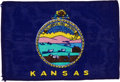 Transportation:Space Exploration, Apollo 14 Flown State Flag of Kansas Directly from the PersonalCollection of Mission Lunar Module Pilot Edgar Mitchell, with ...