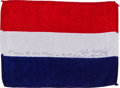 Transportation:Space Exploration, Apollo 14 Flown National Flag of the Netherlands Directly from the Personal Collection of Mission Lunar Module Pilot Edgar Mit...