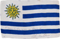 Transportation:Space Exploration, Apollo 14 Flown National Flag of Uruguay Directly from the PersonalCollection of Mission Lunar Module Pilot Edgar Mitchell, S...