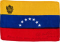 Transportation:Space Exploration, Apollo 14 Flown National Flag of Venezuela Directly from thePersonal Collection of Mission Lunar Module Pilot EdgarMitchell,...