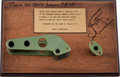 Transportation:Space Exploration, Apollo 9 and Apollo 15 Flown Couch Handles with Rockwell Parts Removal Tag, Presented to and Directly from the Personal Collec...