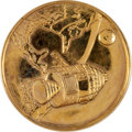 Transportation:Space Exploration, Apollo 1 Gold-Colored Fliteline Medallion from the Personal Collection of Mission Pilot Roger Chaffee. ...