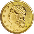 Early Quarter Eagles: , 1832 $2 1/2 MS61 NGC. Breen-6135, BD-1, R.4. The striking detailsare much sharper than often encountered on this Capped He...