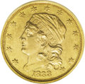 Early Quarter Eagles: , 1833 $2 1/2 --Improperly Cleaned--NCS. Unc. Details. Breen-6136,BD-1, R.5. A sharply struck but glossy canary-gold example ...