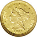 Liberty Quarter Eagles: , 1840-O $2 1/2 AU53 NGC. The first Liberty Head quarter eagles werecoined in 1840, although the design had actually been us...