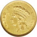 Three Dollar Gold Pieces: , 1854-O $3 AU55 NGC. The only O-mint in the series and an elusiveissue in About Uncirculated condition with only 19 pieces ...