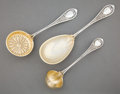 Silver Flatware, American:Wood & Hughes, A CASED WOOD & HUGHES SILVER AND SILVER GILT SERVING SET . Wood& Hughes, New York, New York, circa 1870. Marks: W&H,STER... (Total: 4 Items)