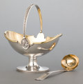 Silver & Vertu:Flatware, A CASED AMERICAN SILVER AND SILVER GILT SAUCE BOAT AND LADLE . Peter L. Krider Co., Philadelphia, Pennsylvania, circa 1870. ... (Total: 3 Items)
