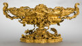 Decorative Arts, Continental:Other , A LARGE CONTINENTAL GILT BRONZE FIGURAL CENTERPIECE . French, circa1900. Unmarked. 13-1/2 x 26 x 14-1/2 inches (34.3 x 66.0...