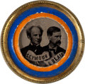 Political:Ferrotypes / Photo Badges (pre-1896), Seymour & Blair: Bright and Colorful Jugate....