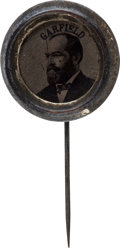 Political:Ferrotypes / Photo Badges (pre-1896), James A. Garfield: Ferrotype Stickpin....