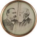 Political:Ferrotypes / Photo Badges (pre-1896), Cleveland & Thurman: Jugate Stud....
