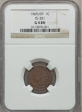 Indian Cents, 1869/69 1C Good 4 NGC. FS-301. NGC Census: (26/541). PCGSPopulation (40/693). Mintage: 6,420,000. Numismedia Wsl. Price f...