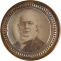 Political:Ferrotypes / Photo Badges (pre-1896), Horace Greeley: Albumen Badge....