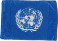 Transportation:Space Exploration, Apollo 9 Flown United Nations Flag Directly from the PersonalCollection of Mission Lunar Module Pilot Rusty Schweickart, Sign...