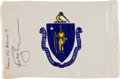 Transportation:Space Exploration, Apollo 9 Flown Massachusetts State Flag Directly from the PersonalCollection of Mission Lunar Module Pilot Rusty Schweickart,...