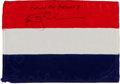 Transportation:Space Exploration, Apollo 9 Flown National Flag of the Netherlands Directly from the Personal Collection of Mission Lunar Module Pilot Rusty Schw...