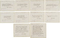 Transportation:Space Exploration, Apollo 9 Flown Group of Twenty-Three Famous Quotes Directly from the Personal Collection of Mission Lunar Module Pilot Rusty S... (Total: 23 Items)