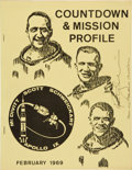 Transportation:Space Exploration, Apollo 9 Countdown & Mission Profile Book Directly fromthe Personal Collection of Mission Lunar Module Pilot Rust...