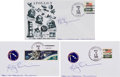Autographs:Celebrities, Apollo 9 Launch Cover and Two Launch Postcards Directly from thePersonal Collection of Mission Lunar Module Pilot Rusty Schwe...(Total: 3 Items)