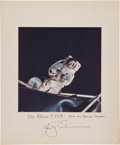 Autographs:Celebrities, Rusty Schweickart Color Apollo 9 EVA Photo on Mat Directly from hisPersonal Collection, Signed and Certified....