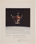 Autographs:Celebrities, Apollo 9 Color Spider Photo on Mat Directly from the Personal Collection of Mission Lunar Module Pilot Rusty Schwe...
