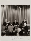 Autographs:Celebrities, Apollo 9 Press Conference Photo Directly from the PersonalCollection of Mission Lunar Module Pilot Rusty Schweickart, Signed...